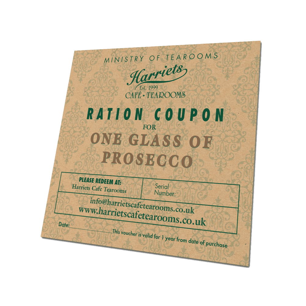 Ration Coupon for One Glass of Prosecco