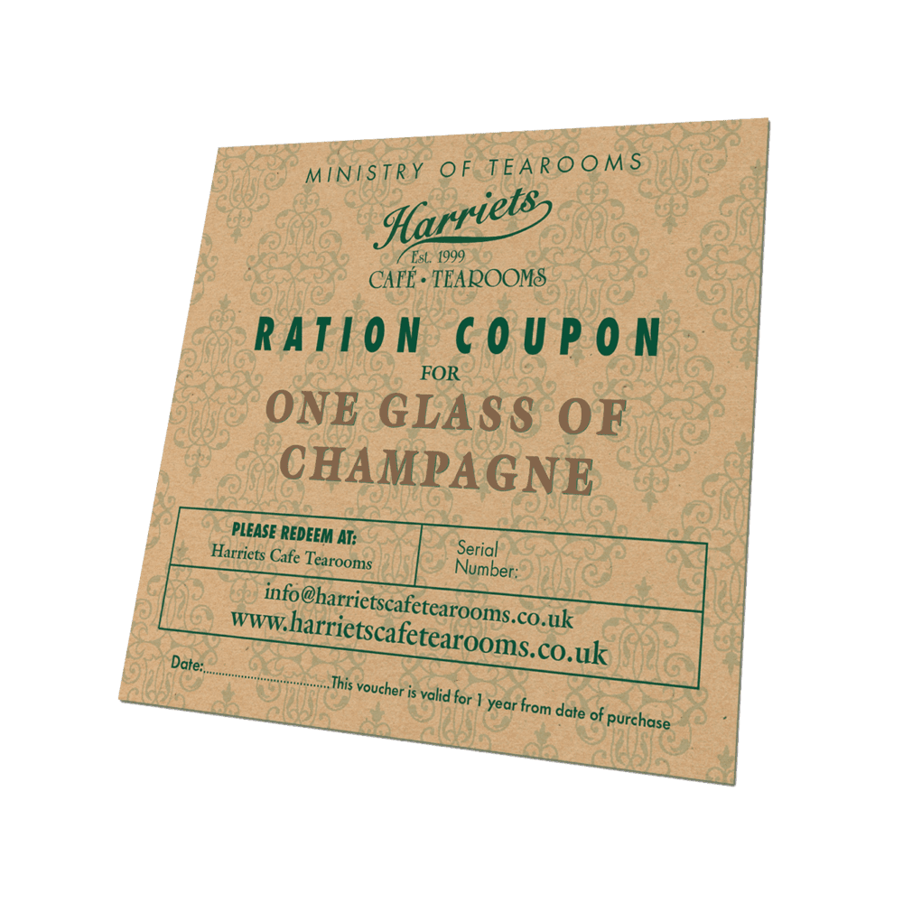 Ration Coupon for One Glass of Champagne