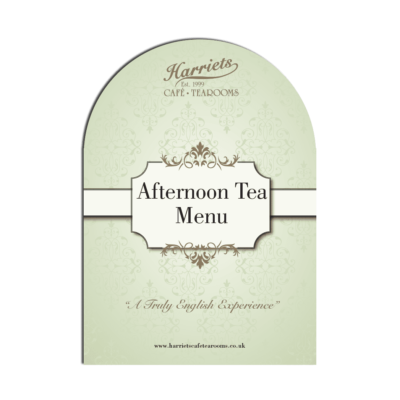 Harriets Afternoon Tea Menu Book