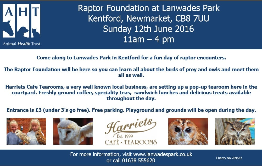 Join us Sunday 12th June at the Animal Health Trust