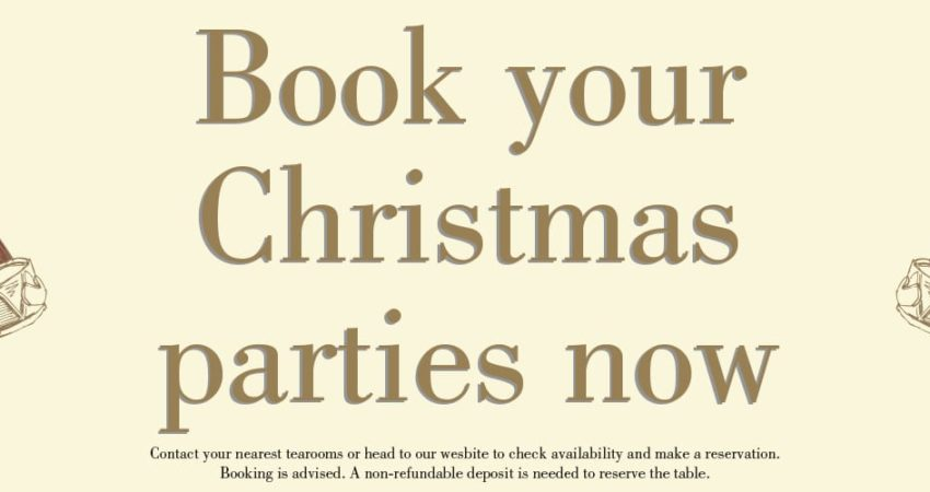 Christmas Party Bookings Now Available