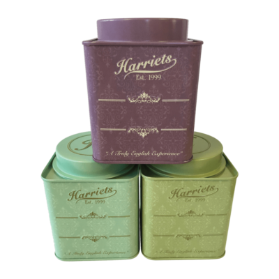Set of 3 Harriets Signature Tea Caddies