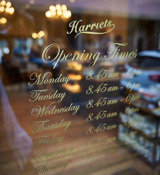 Christmas Opening Times at Harriets