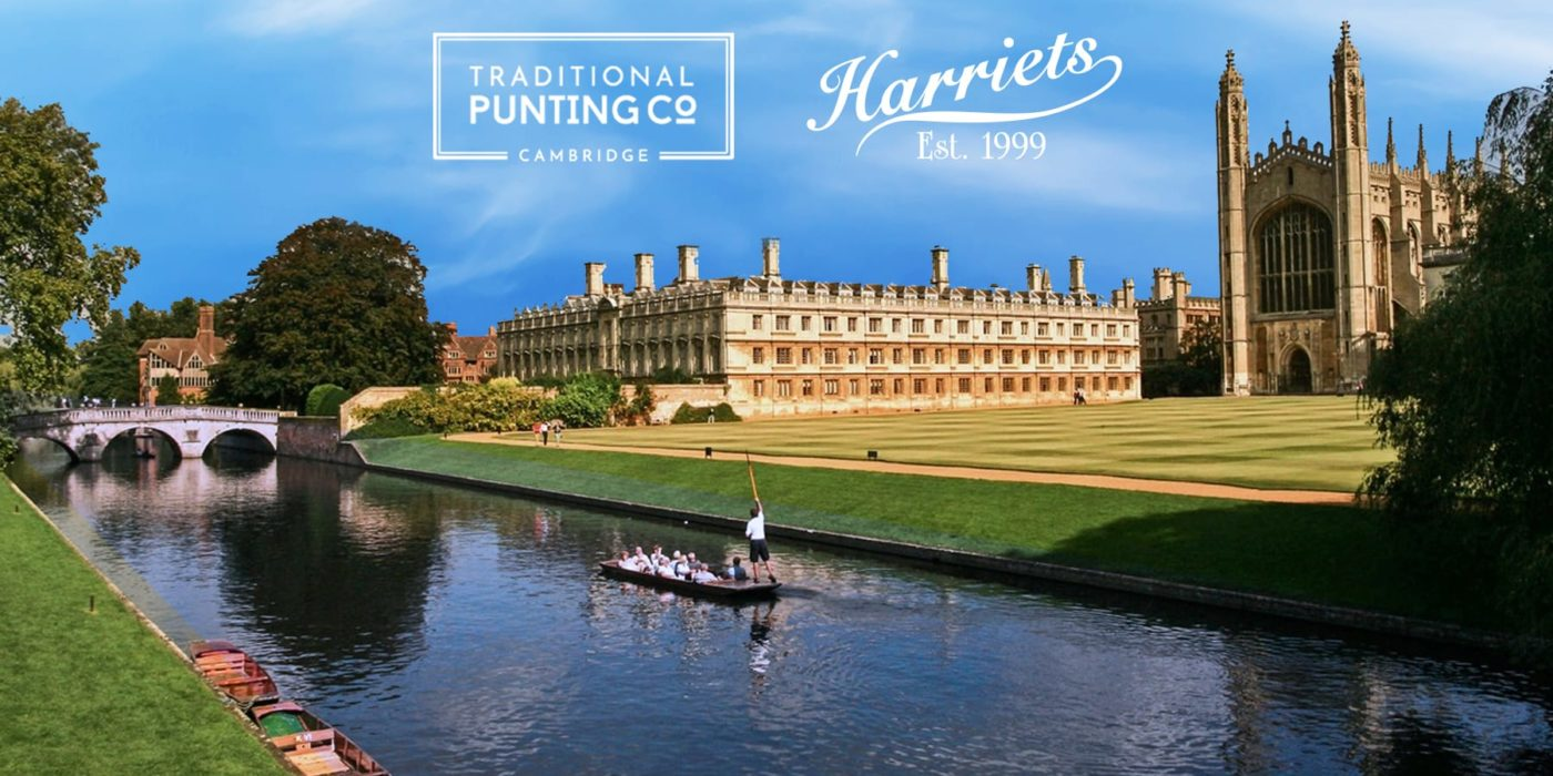 Harriets partner with the Traditional Punting Company Cambridge