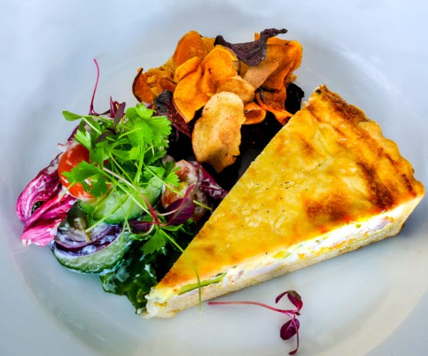Quiche served at Harriets Cafe Tearooms